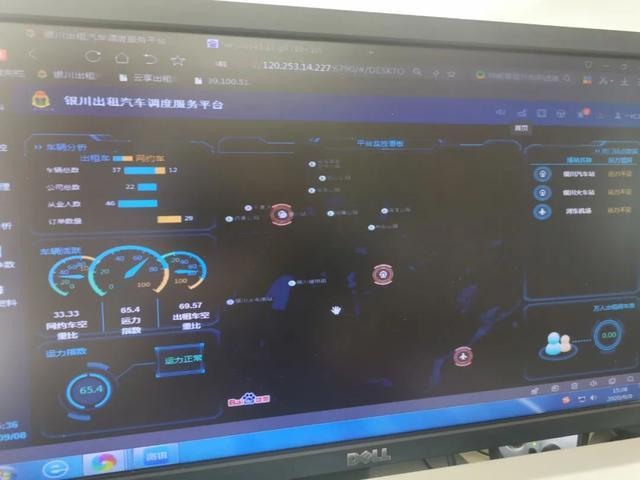 10月1日银川新风景线--新型出租车,应用智慧北斗技术+视频监控!